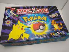 Pokémon Monopoly Collectors Edition Hasbro Waddingtons Vintage Rare 1990's