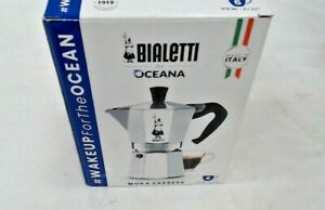 6-Cup Aluminum Stovetop Espresso Maker, Classic Moka Pot Octagonal Shape