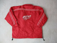 VINTAGE Pro Player Detroit Red Wings Jacket Adult Large Red White NHL Hockey *