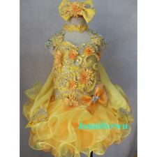 Infant/toddler/baby/children/kids Girl's glitz pageant Dress/clothing G013A