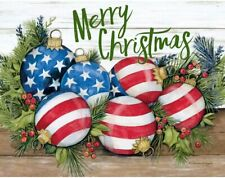 LANG Deluxe Boxed Christmas Cards LIBERTY Patriotic American Flag Decorative USA