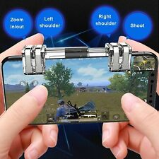 K9 Metal 4-7 inch Cell Phone Gamepad Trigger For PUBG Assist Button Zoom Faster