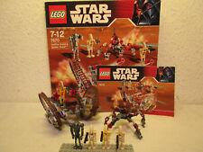 Lego Star Wars 7670 Hailfire Droid & Spider Droid + OVP & BA komplett