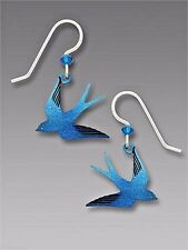 Sienna Sky Flying SWALLOW EARRINGS STERLING Silver BIRD Dangle Blue - Gift Box