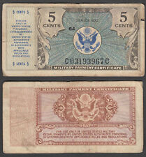 USA 5 Cents 1948 Series 472 Military (F) Condition Banknote P-M15