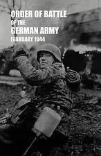 Ordine di battaglia dell' esercito tedesco, febbraio 1944 da servizi segreti militari...