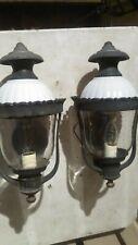 RENAISSANCE REVIVAL CAST ALUMINUM GASLIGHT ROUND DRIVEWAY LAMPS DOORWAY SCONCES