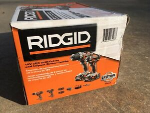 New Ridgid 18V 2PC Drill/Driver and Impact Driver R9602