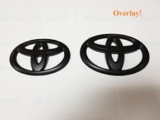 2Pcs Overlay Matte Black Front & Rear Emblem Badge For 2010-2020 Toyota 4Runner (Fits: Toyota)