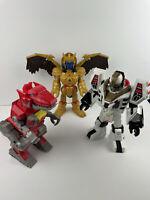Power Rangers Imaginext Large Figures Lot - Goldar + T-Rex Zord + White Ranger