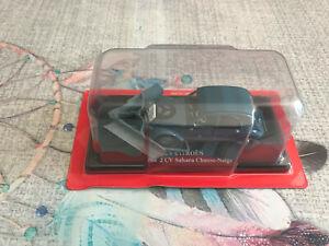 Voiture miniature Citroen 2cv 2 cv Sahara Chasse Neige Auto Plus Hachette 1/43