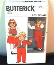 BUTTERICK 6210 RUTH SCHARF GIRLS' CHRISTMAS OUTFIT, CHILD SIZES 2-3-4, UNCUT, FF