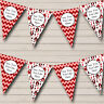 Party Banner Bunting Red Chevrons Wine Bottles Personalised Christmas Decoration