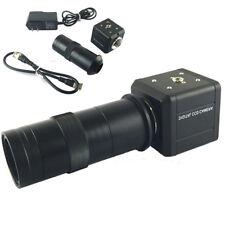 100X Industrial Digital Camera Microscope BNC AV TV Video Zoom +C Mount Lens Hot
