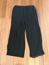 Wide Leg Polyester Dry-clean Only Pants for Women