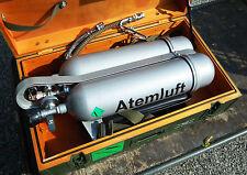 2X Bombole + schienalino  rubinetteria e tubi  in contenitore stagno attacco DIN