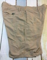 The North Face Mens Size 40 Khaki Beige SHORTS Hiking Outdoors Nylon 6 POCKETS