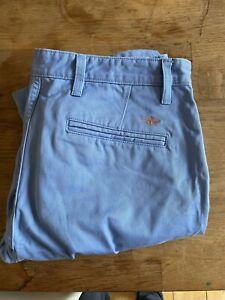 Men's Dockers Alpha Slim Fit chino blue trousers 33w 32l Levi's