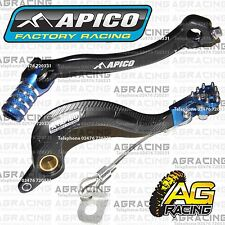 Apico Black Blue Rear Brake & Gear Pedal Lever For Yamaha YZ 250F 2014-2016 MX