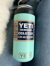 YETI Seafoam Blue Green SLIM Can Rambler 12oz Colster Canned Wine Spiked Seltzer
