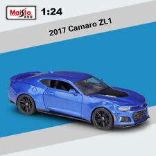 2017 Chevrolet Camaro ZL1 Blue Chevy Sports Car Maisto Collection Metal Model