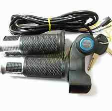 EBike Electric Scooter Throttle Grip 12-99V Handlebar LED Digital Meter KEY