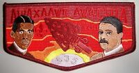 AWAXAAWE AWACHIA LODGE 535 TRAPPER TRAILS SCOUT PATCH OA 100TH CENTENNIAL FLAP