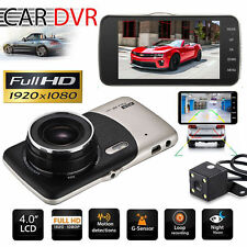 "4"" Dual Lens Camera HD 1080P Car DVR Vehicle Video Dash Cam Recorder G-Sensor VF"