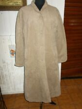 Veste Manteau long simili daim beige JEROME BERTIN PARIS 38/40FR