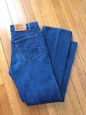 Vintage 1980's Men's LEVI'S Leather Tag Denim Jeans Orange Tag Size 34 x 32 USA