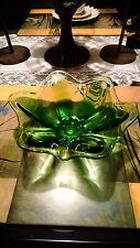Green Art Glass decorative bowl by Viking Glass