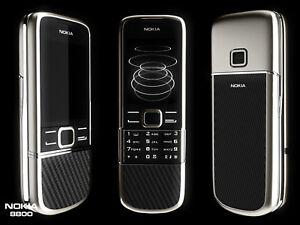Nokia 8800 Carbon Arte Black 8800e 3G UMTS 2100 3MP Bluetooth 4GB Mobile phone