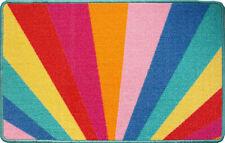 Colourful Rainbow Door Mat Non Slip Machine Washable Kitchen Mats Absorbent Rugs