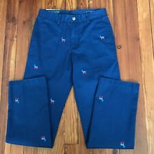 New $125 Vineyard Vines Slim Fit Breaker Political Donkey Democrat Pants 28x32