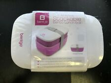 Bentgo All-in-One Stackable Lunch Bento Box Purple Lunchbox Container  Snack