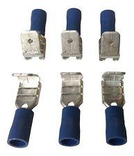 50X Blu Piggyback Connettore Elettrico Terminali A Crimpare Cavo Filo