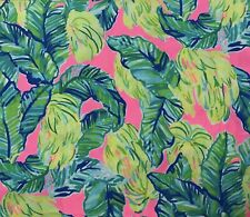 "Lilly Pulitzer Cotton Poplin Fabric Pink Sunset Local Flavor 54"" X 57"""