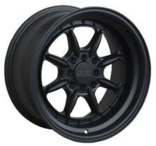 XXR 002.5 16X8 Rims 4x100/114.3 +20 Black Wheels (Set of 4)