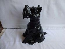 More details for  vintage black scottie dog scottish terrier heavy cast iron door stop