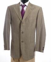 JOOP! Sakko Jacket Gr.54 braun meliert Einreiher 3-Knopf Baumwolle -S270