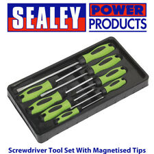 Sealey - HV001 Hi-Vis Screwdriver Tool Set With Magnetised Tips - 8 Piece