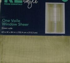 """Sheer Green Voile Window Panel 84"""" Curtain"""