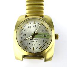 Auth DIESEL Only the Brave Quartz 10 Bar SS Champagne Gold Men watch vintage
