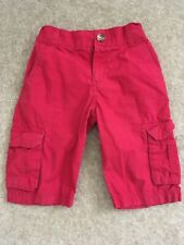 Boys Red Cargo Shorts 8-9 Years