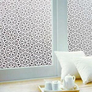 Frosted Window Film Privacy Lace Decorative Static Cling Self Adhesive