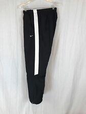 Vintage Nike Track Pants Windbreaker Lined 90 Swoosh Black Spell Out Men X Large