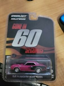 GREENLIGHT HOLLYWOOD SERIES 7 GONE IN 60 SECONDS 1971 PLYMOUTH HEMI CUDA pink