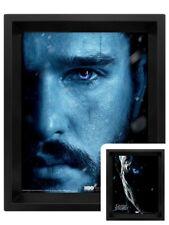 Game of Thrones Poster Jon Snow Vs Night King 3D Framed Lenticular 20x25cm