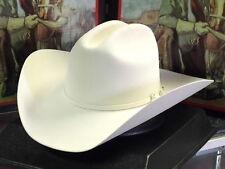STETSON WHITE YUMA 6X FUR FELT COWBOY WESTERN HAT