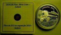 2010 Canada $20 Dollars 9999 Silver Coin Locomotive Selkirk Proof